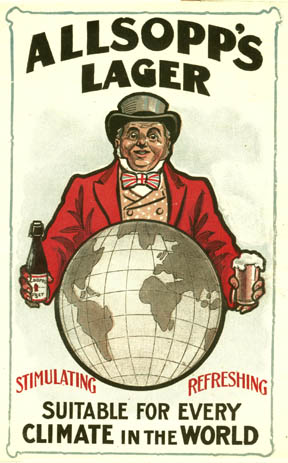 A flyer for Allsopp's lager