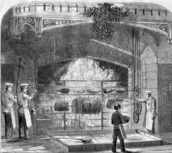 Roasting the beef at Windsor 1856