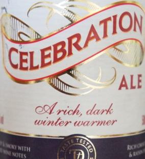 Sainsbury's Celebration Ale label