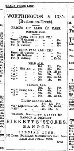 Worthington ad 1891