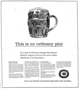Watney's Red Barrel ad 1961