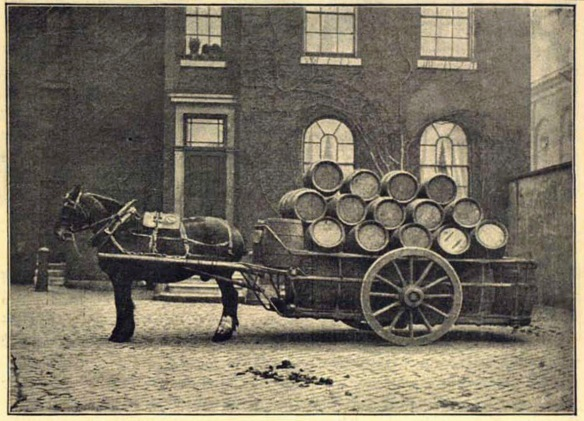 Loaded dray at Truman's 1889