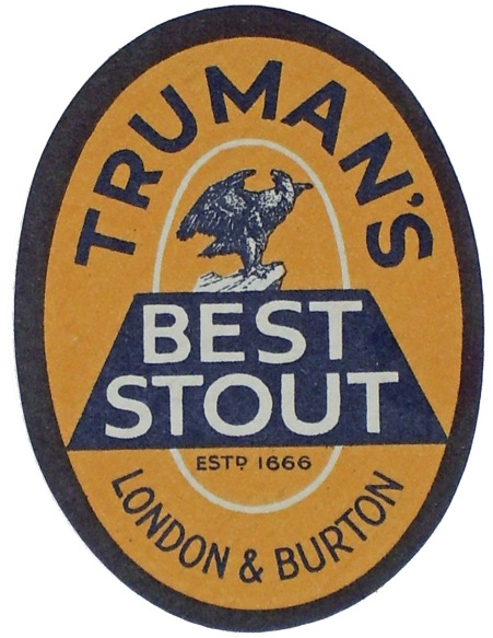 Truman's Best Stout label