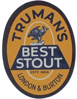 Truman's Best Stout label