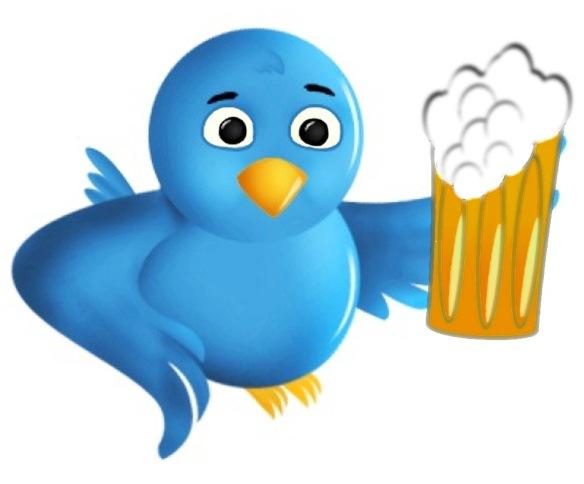 Beer-drinking twitterbird
