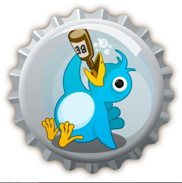Bottle beer twitter bird