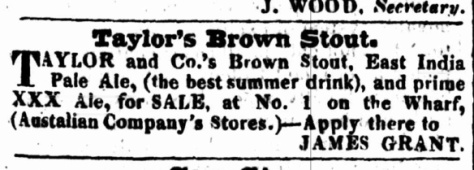 EIPA, 'the best summwer drink', in the Colonial Times, Hobar,t February 19 1830
