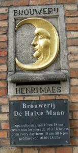 Halve Maan brewery sign