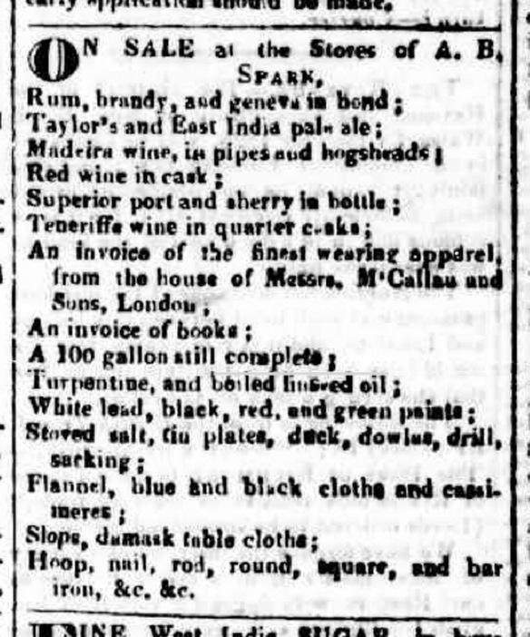 Advertisement for East India Pale Ale, Sydney Gazette, Saturday August 29 1829