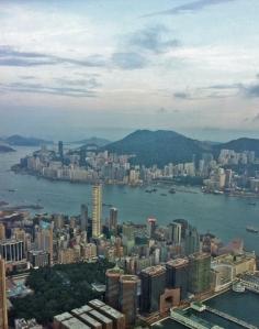 Hong Kong seen from 1,500 feet up