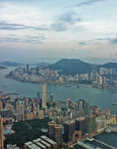 Hong Kong seen from 1,500 feet up