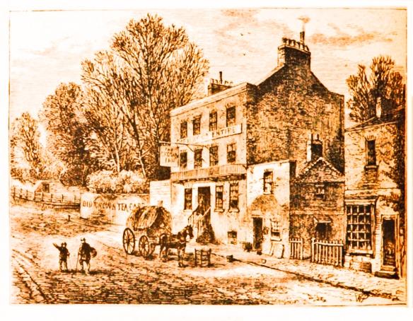A pub by a road