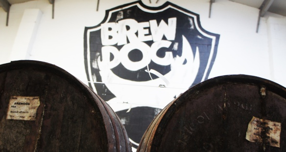 Casks at the Fraserburgh brewery