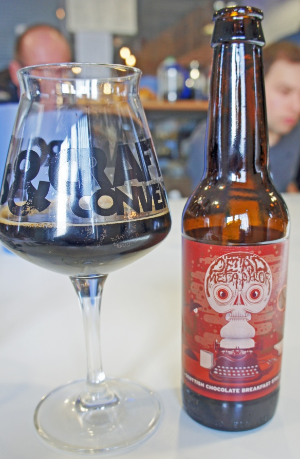 Breakfast Stout in the BrewDog tasting room