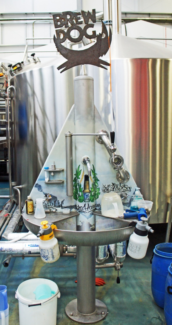 Safety for Punks: the emergency eyewash station at the BrewDog brewery