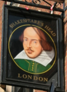Shakespeare pub sign