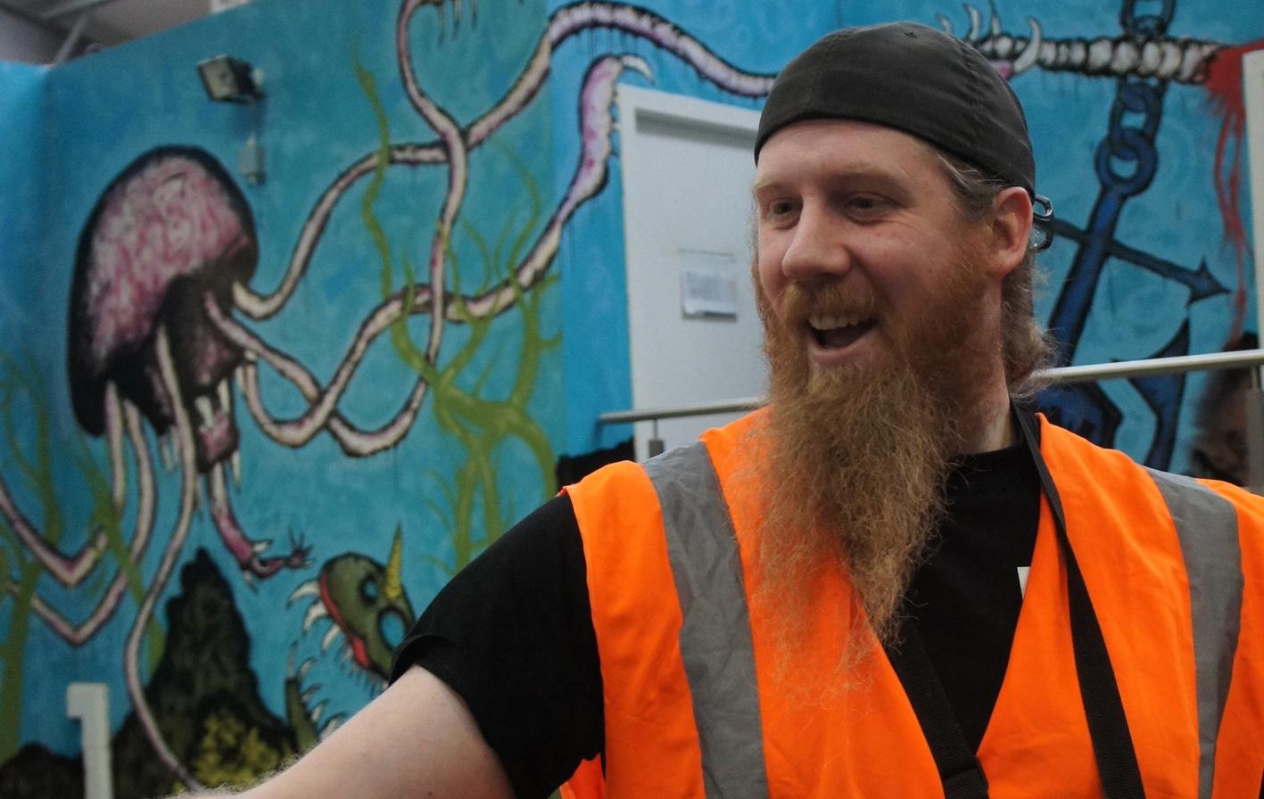BrewDog's head brewer, Stewart Bowman, with obligatory American Brewer's Beard