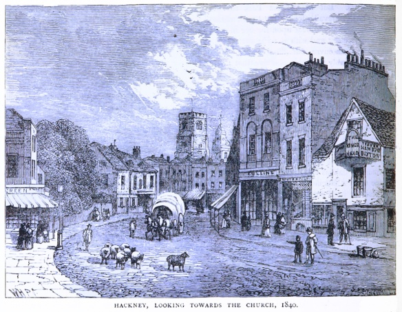 Hackney in the days when there were more sheep about than hipsters