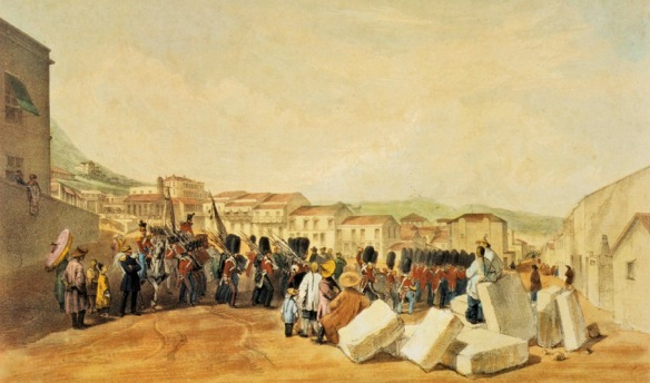British toops in Hong Kong 1846: undoubtedly hot and thirsty