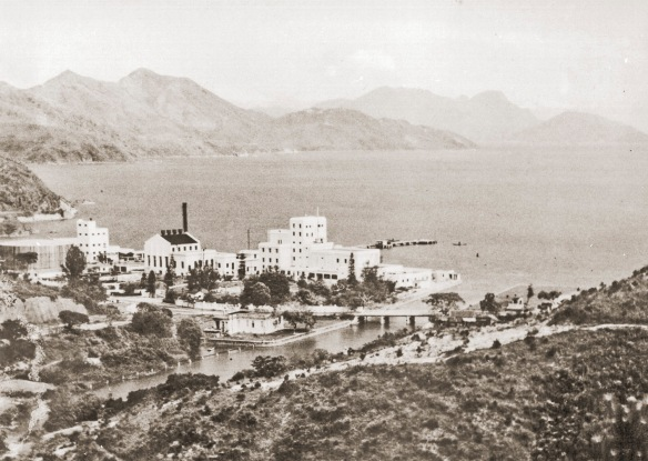 The most beautiful setting for a brewery anywhere in the world? The Sham Tseng brewery site, New Territories, Hong Kong in the 1950s © San Miguel Corp