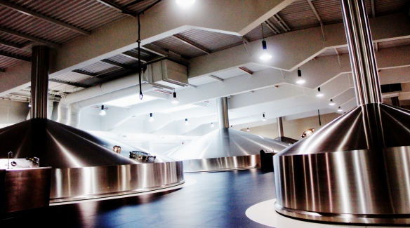 The interior of the new Guinness Brewhouse No4 at St James's Gate, Dublin. Please do not look at these pictures