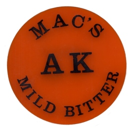McMullen's AK Mild Bitter pumpclip from the 1950s