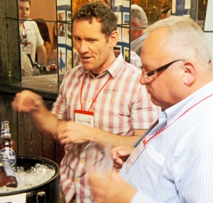 One for the I-Spy Book of European Brewers … Vaclav Berka of Pilsner Urquell doesn't look as impressed with Doom Bar as perhaps Stewart Howe of Sharp's would like him to be …