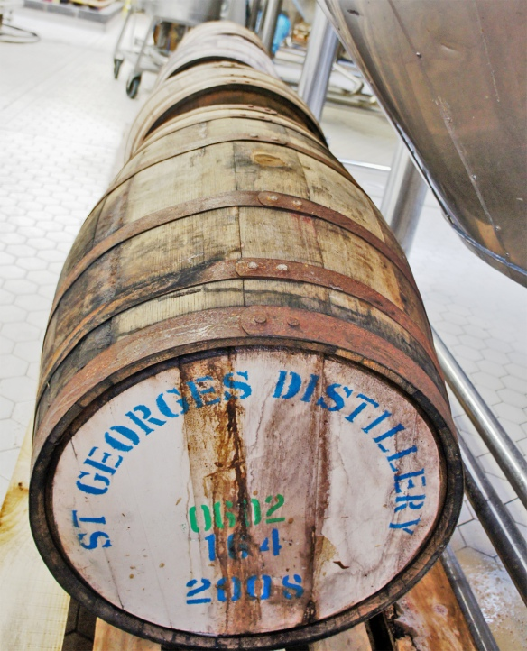 Whisky casks at Meantime brewery
