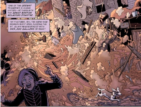 From a Dr Who cartoon novel in 2012: was the Great Beer Flood caused by time-travellers? (No, obviously not …)