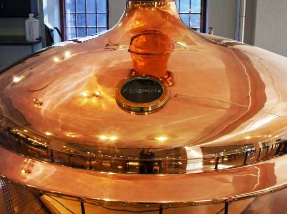 A genuinely copper copper at the Jacobsen brewery