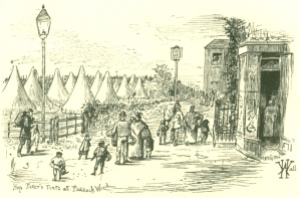 Hop pickers' tents, Paddock Wood, not far from Brenchley