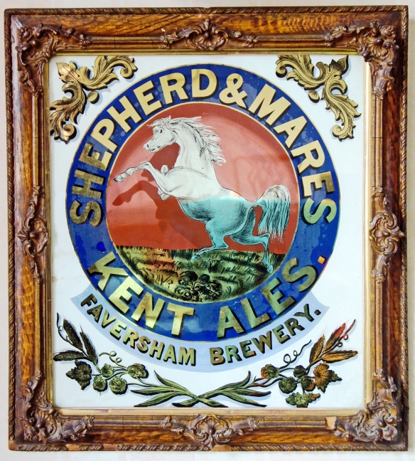 Lovely poster from the time of the Shepherd & Mares partnership at the Faversham brewery, circa 1849-1864, hanging in the Faversham brewery boardroom