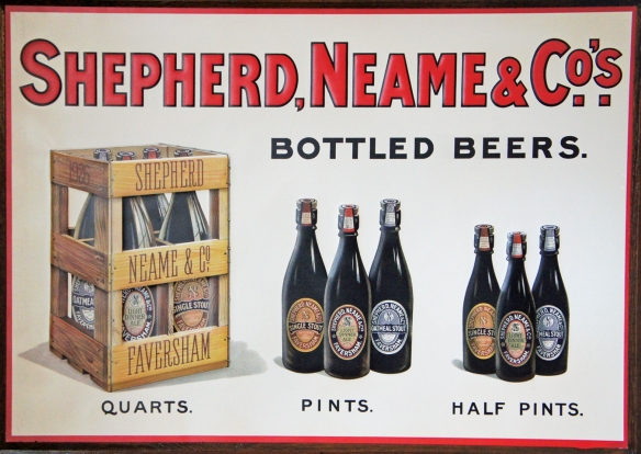 A poster for Shepherd Neame's bottled beers from 1926, now hanging in the company boardroom in Faversham