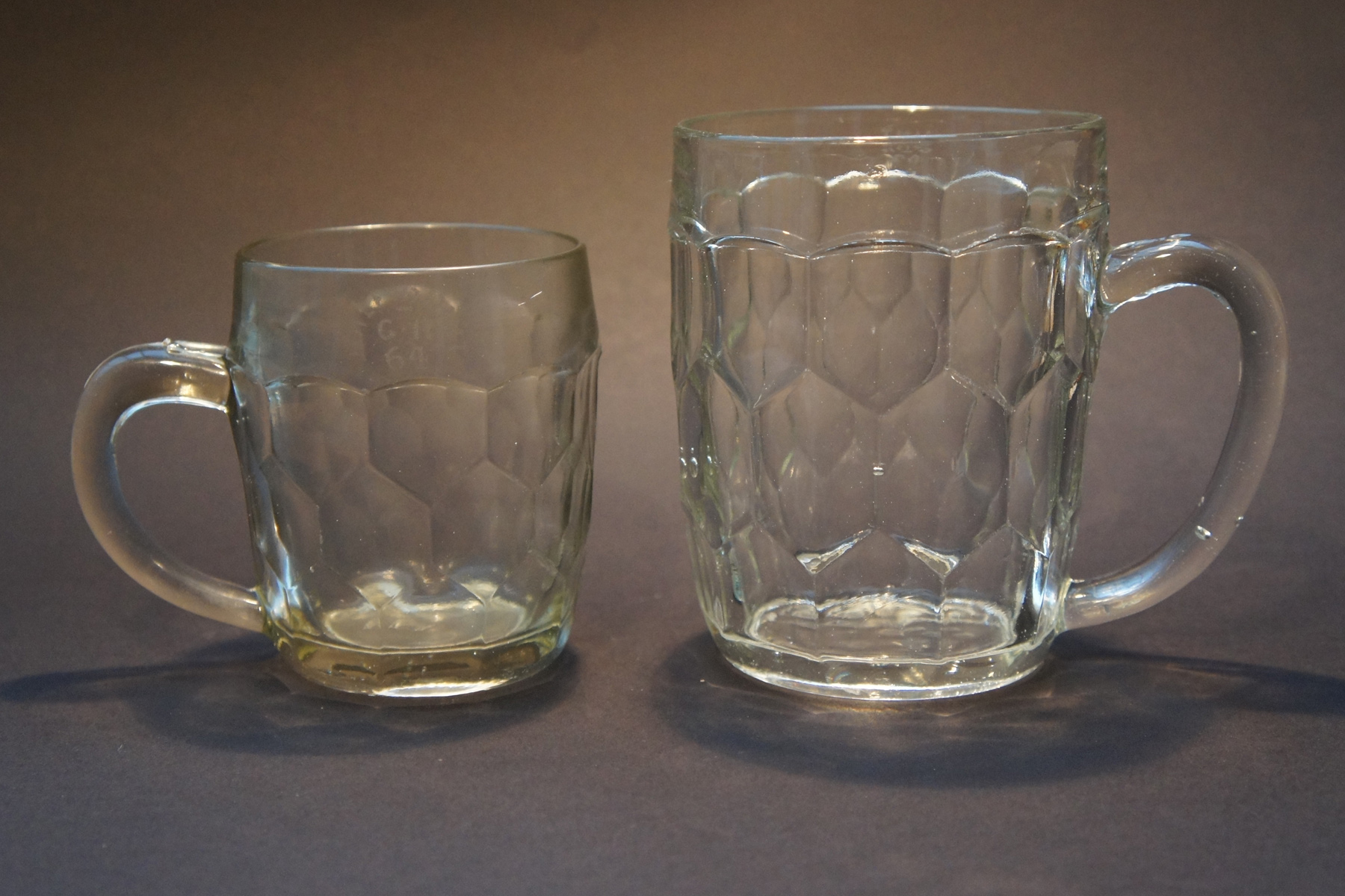 Pottery & Glass Charitable Vintage Cut Engraved Lead Glass Crystal Hand Blown Conical Pint Set 6 Rare