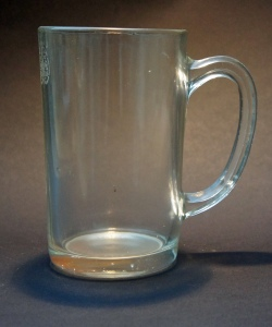 One-pint straight-sided mug marked 'EIIR 301' for Elizabeth II and West Yorkshire, probably made by Bagley & Co of Knottingley