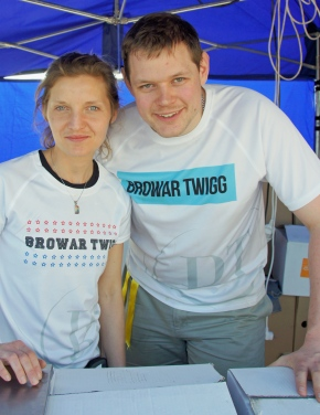David Twigg, of Kraców via Cambridge, and Paulina Golec of Browar Twigg