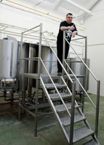 Michał Gref in the brewhouse at Browar Profesja